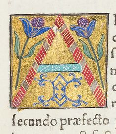 "Decorated initial ""A"" from Scriptores historiae Augustae Medieval Manuscript, Medieval Art, Illuminated Letters, Illuminated Manuscript, Initial Letters, Letter Art, Lettering Styles, Hand Lettering, Wedding Initials"