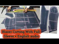 Blazer Cutting with Full Sleeve | blazer cutting video - YouTube