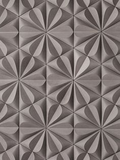 The texture of petals created by the tiles on this wall create a honeycomb like pattern that could cover a whole wall and not feel like too much Texture Sol, Pattern Texture, Tiles Texture, Texture Design, 3d Pattern, Beton Design, Tile Design, Wall Patterns, Textures Patterns