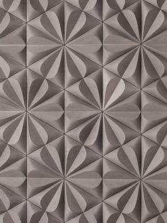 Triangle Brown Embossed / Debased Texture Pattern X-Gone Geometry / leManoosh
