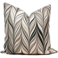 Mary McDonald Firenze Conch Decorative Pillow Cover – Throw Pillow – Accent Pillow Blush Pink, Greige and Black Chevron - Accent pillow Black Pillow Covers, Black Pillows, Decorative Pillow Covers, Mary Mcdonald, Chevron Patterns, Black Chevron, Pillow Forms, Pillow Inserts, Accent Pillows