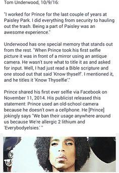 Tom Underwood remembers Prince