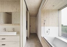 Georg Bechter - Straw house, Dornbirn 2014. Using the local farming communities as a resource, straw hay bales were used for the walls, both as an insulator and also as a load-bearing vertical...