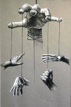 Hierarchy of Psychopathic abuse . societies epidemic Art By Other people's poetry Marionette Tattoo, Art Sketches, Art Drawings, Hand Kunst, Illusion Kunst, Desenho Tattoo, A Level Art, Wow Art, Hand Art