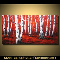 abstract painting landscape scenic painting original modern art acrylic oil large wall hangings on Etsy, $199.00