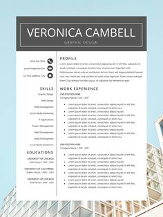 Professional Resume Template for Word and Pages | CV Template   Cover Letter | Creative Resume | Modern Resume Design | Instant Download Every Resume Template is fully editable, so you can easily modify and adapt it to your own needs ( change font, colors, headlines, sections, icon colors, etc. ) Our templates are professionally designed. We provide full support and advice our customers. Modern Resume Template, Creative Resume Templates, Cv Template, Cv Design, Resume Design, Microsoft Word 2007, Cover Letter Template, Professional Resume, Fix You