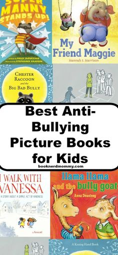 Best Anti-Bullying Picture Books for Kids · Book Nerd Mommy Anti Bullying Lessons, Anti Bullying Week, Anti Bullying Activities, Bullying Quotes, Cyber Bullying, Learning Activities, Anti Intimidation, Books About Bullying, Character Education