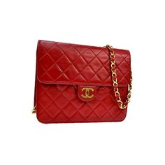 """chanel small red crossbody bag  measures 6.3 x 6.7 x 2.4"""" with a 17"""" strap drop  asking $1320  comment for more information or to purchase this item"""