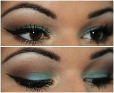 aqua eyeshadow- I like how you can only see a little color when your eyes are open