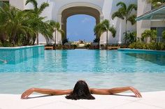 Infinity Pool at West Bay Club Resort on Grace Bay beach, Providenciales, Turks and Caicos Islands, Caribbean Need A Vacation, Dream Vacations, Vacation Ideas, Turks And Caicos Hotels, Grace Bay Beach, Relax, Island Resort, Cool Pools, Swimming Pools