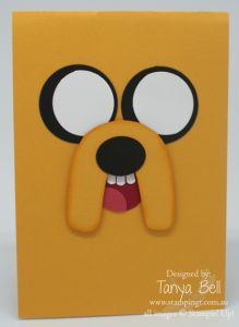 Stampin' Up! Stamping T! - Adventure Time Jake Card