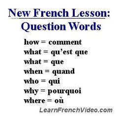 18846d948f12 Utilisez ces expressions pour formuler des questions. Pratiquez-vous avec  chacune. Apprendre Le