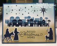 stampin up holiday cards 2018 Christmas Cards 2017, Religious Christmas Cards, Homemade Christmas Cards, Christmas Gift Decorations, Stampin Up Christmas, Xmas Cards, Holiday Cards, Christmas Ideas, Christmas Night