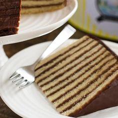 Smith Island Layer Cake Recipe - Two Ways Chocolate Torte, Chocolate Layer Cakes, Smith Island Cake, Just Desserts, Dessert Recipes, Layer Cake Recipes, Unsweetened Chocolate, Crab Cakes, Let Them Eat Cake