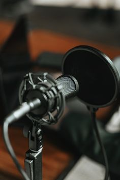 Professional condenser microphone with a pop filter in a studio   premium image by rawpixel.com / Teddy Rawpixel Recording Studio Microphone, Filter, Pop, Image, Popular, Pop Music