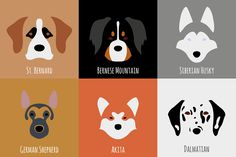 Minimalist Dog Breeds Illustrations that are really cute Minimalist Drawing, Minimalist Art, Aggressive Dog Breeds, Beagle, Pug, Puppies And Kitties, Dog Logo, Dog Illustration, Happy Art