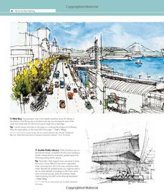 The Art of Urban Sketching: Drawing On Location Around The World Gabriel, Sketch Architecture, Artist Journal, Urban Sketchers, Sketchbooks, Seoul, Sketching, Journals, Scenery