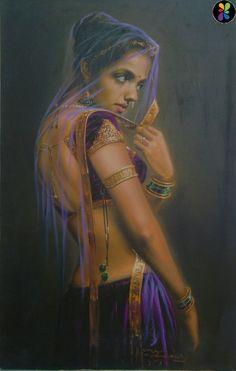Pin by sreedevi balaji on paintings indian paintings, india painting, art. India Painting, Woman Painting, Painting Art, Indian Women Painting, India Art, Human Art, Dance Art, Beauty Art, Beautiful Paintings