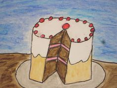 These cake drawing were created by my fifth grade students.  This lesson was inspired by t...