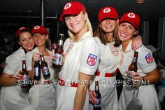 """Awesome """"League of Our Own"""" Girls Group Costume... Coolest Homemade Costumes"""