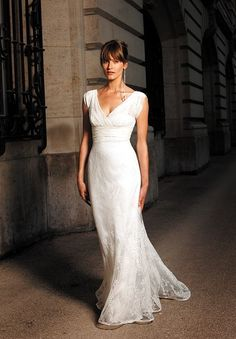 simple wedding dresses   Home > Bride > Lace V-Neck Mermaid Simple Wedding Dresses