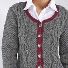 """Damentrachtenjacke """"Trachtenwolle"""" 754206 – Knitting For Beginners 2020 Knit Crochet, Knitted Fabric, Men Sweater, Sweaters For Women, Women's Sweaters, Easy Knitting Patterns, Simple Knitting, Scarf Design, Stockinette"""