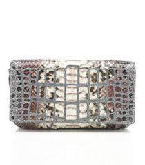 Judith Leiber Liloe Python and Crystal Cage Handbag