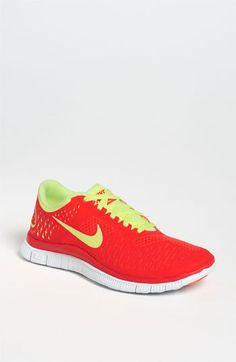 Nike 'Free 4.0 V2' Running Shoe (Women) available at #Nordstrom -- night blue/volt/platinum