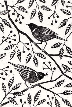 british winter print illustration - Google Search