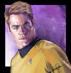 Captain Kirk (Star Trek Reboot) w/ Speed Painting! by BonnyJohn on DeviantArt Stephen Hawking, Chris Pine Movies, Star Trek Reboot, Counting Stars, Series Movies, Science Fiction, At Least, Sci Fi, Hollywood