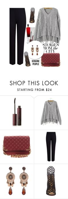 """City: GenuinePeople 7"" by merima-kopic ❤ liked on Polyvore featuring Privé, Kevyn Aucoin, M&S Collection, Christian Louboutin, Victoria's Secret and Genuine_People"