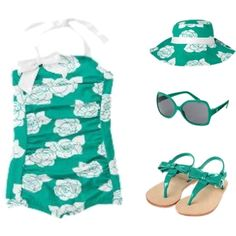 Janie and Jack - Island Getaway - Girl, created by leslie-fiore on Polyvore ... crying.. i need a girl!