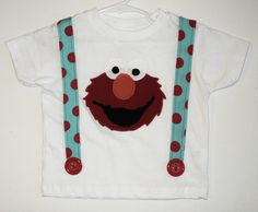 Custom Boutique Elmo Inspired T Shirt With by TheLittleMansShop, $18.00