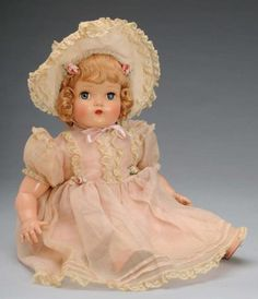 ~ Beautiful Composition Doll ~ She reminds me of the doll I once had and trying to find one again.  I sold mine in a garage sale when my kids were little.  Then years later I saw her again at a flea market, being handed to the person in front of me.  She was the same doll...