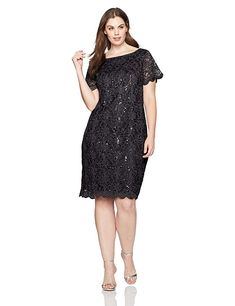 Calvin Klein Women s Plus-Size Sheath with Zipper at Shoulder    Quickly  view this special product e6de01480
