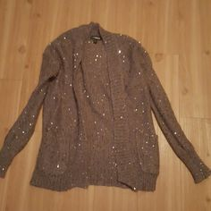 Express XS Sequin Cardigan Size XS but can fit a small. Sequin all ...