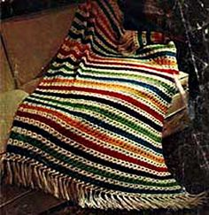 Broomstick Lace Crochet Afghan