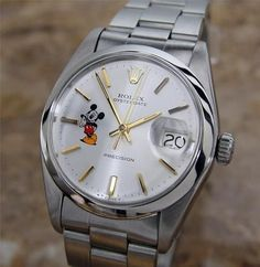 AUTHENTIC RARE MENS ROLEX 6694 OYSTERDATE DISNEY MICKEY DIAL, c. 1960s, SWISS: