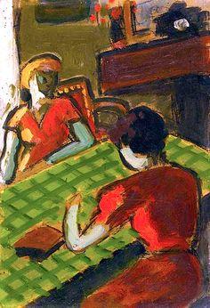 AUGUSTE CHABAUD (1882-1955) DEUX FEMMES DANS UN INTÉRIEUR