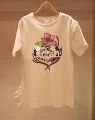 """""""한국 가게 주인에서""""카운터가 한국 〓AT 코너 ★ 봄 모델을 구입하는 아름 다운 꽃의 셔츠 〓AQ781"""
