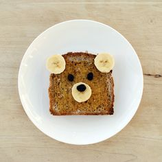 Teddy bear toast. absolutely adorable for the little tykes.