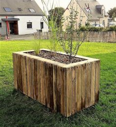Some people don't like to adorn their garden with the usual style of planters because they don't make the area appealing, so here is an idea of creating innovative planters using the wooden pallets. It is a huge planter and it can be decorated inside the home as well.