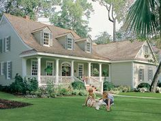 063H-0230: Country Southern House Plan; 2195 sf Southern House Plans, Family House Plans, Country House Plans, Pantry Interior, Covered Front Porches, Duplex House Plans, Building Department, Architectural Features, Walk In Pantry