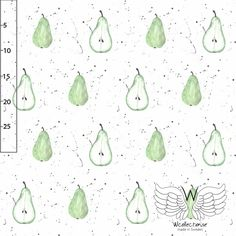 Organic Cotton Jersey Fabric - Pears by Wcollection