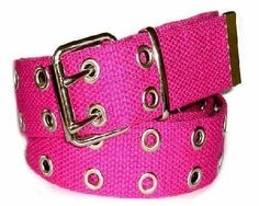 12.99$  Watch now - http://viors.justgood.pw/vig/item.php?t=7qy50n38465 - Canvas 2 Hole With Silver Grommet Belt in Fuschia 12.99$