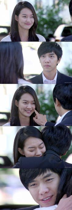 """Dae Woong escucha como lo llaman, es la voz de Miho: """"Te has vuelto más lindo. Tú...tú realmente estás asustado? Tenías miedo de que desaparecería con las estrellas?"""". Dae Woong: """"Eres real?""""- tocándole el rostro- """"Lo eres...entonces ahora eres un fantasma?""""- la abraza- """"No me importa...si eres un fantasme, humana o gumiho. No importa...solo...si sigues estando conmigo, todo estará bien para mi...si estás de vuelta...es todo lo que importa"""" - My Girlfriend is a Gumiho Ep 16"""