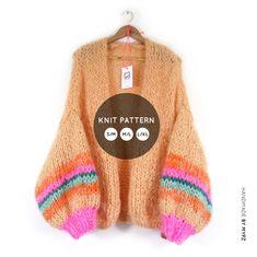 Breipatroon – MYPZ basic chunky vest (NL) bernadette vest - M Y P Z Mohair Cardigan, Knit Cardigan Pattern, Mohair Yarn, Chunky Knit Cardigan, Chunky Knits, Chunky Wool, Chunky Knitting Patterns, Knitting Kits, Knit Patterns