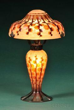 Le Verre Francais Art Deco Table Lamp
