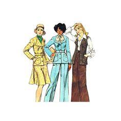 Womens Jacket Vest Skirt & Pants Pattern by finickypatternshop, $9.25