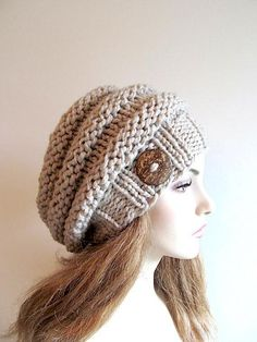 (6) Name: 'Knitting : Bulky Slouch Beanie Beret Beehive Hat